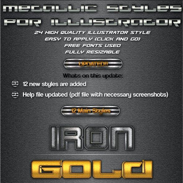 Metallic Styles for Illustrator
