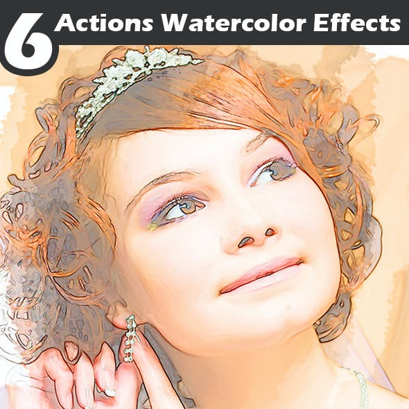 Actions Watercolor Effects