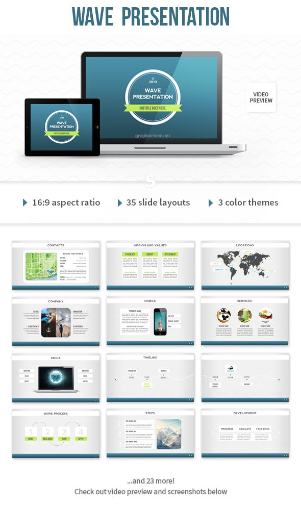 Wave Powerpoint Template from graphicriver.img.customer.envatousercontent.com