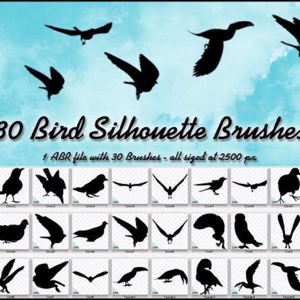 30 Bird Silhouette Brushes