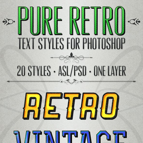 Pure Retro - Text Styles