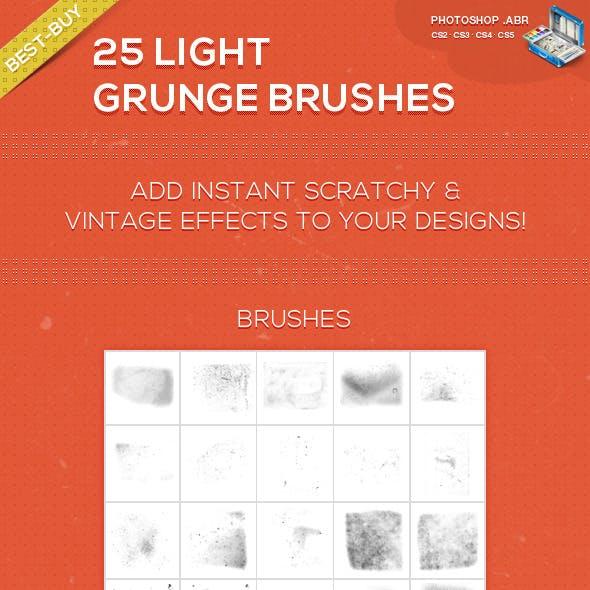 25 Light Grunge Photoshop Brushes