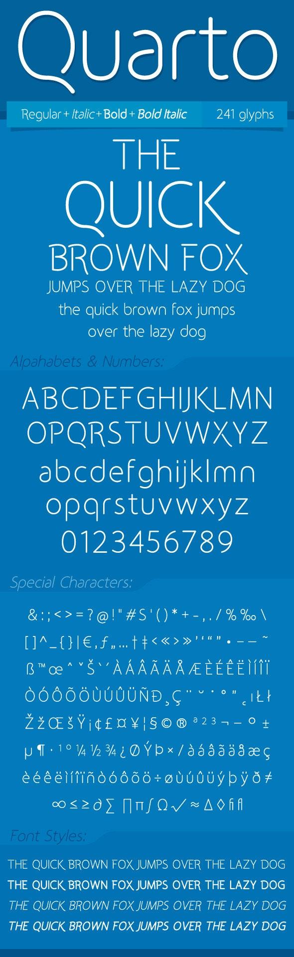 Quarto Font - Fonts