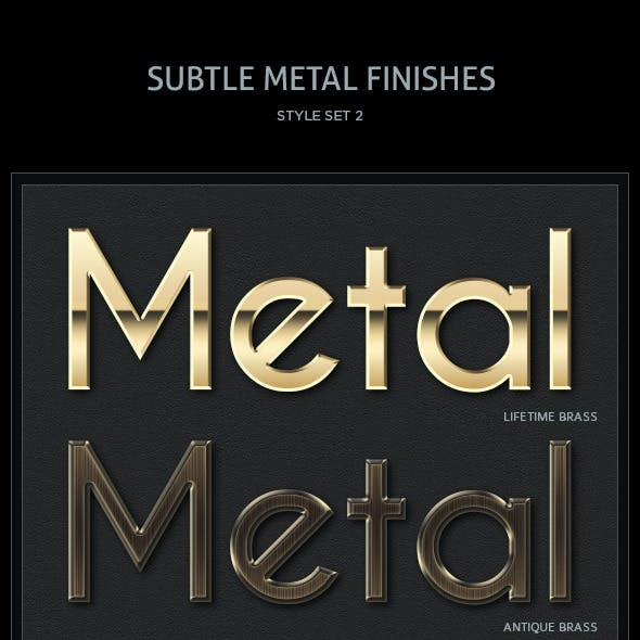 10 Subtle Metal Finishes Text Styles