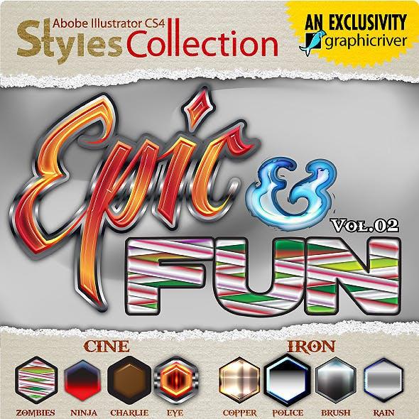 AI Styles Collection #03B: Epic & Fun #02