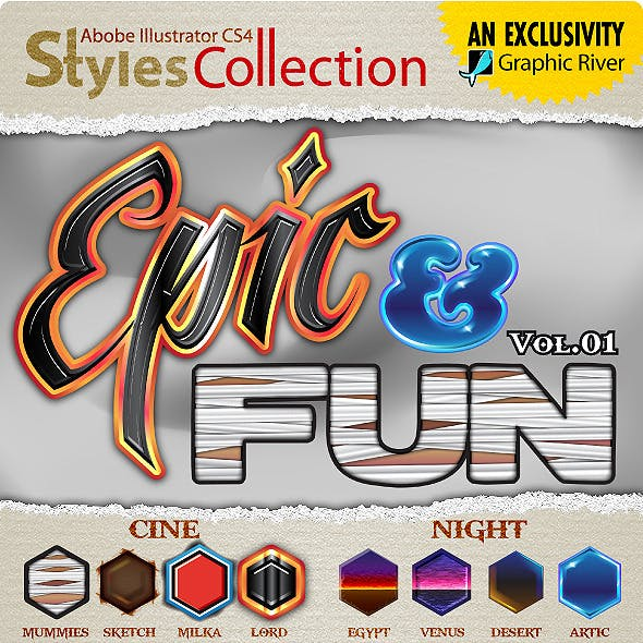 AI Styles Collection #03A: Epic & Fun #01