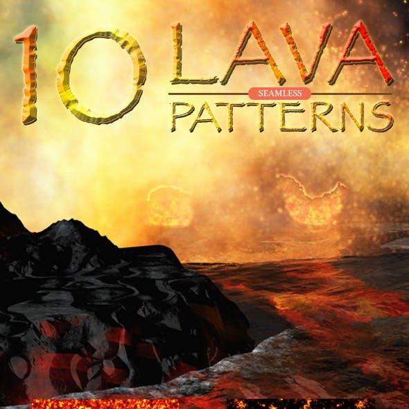Lava Seamless Patterns