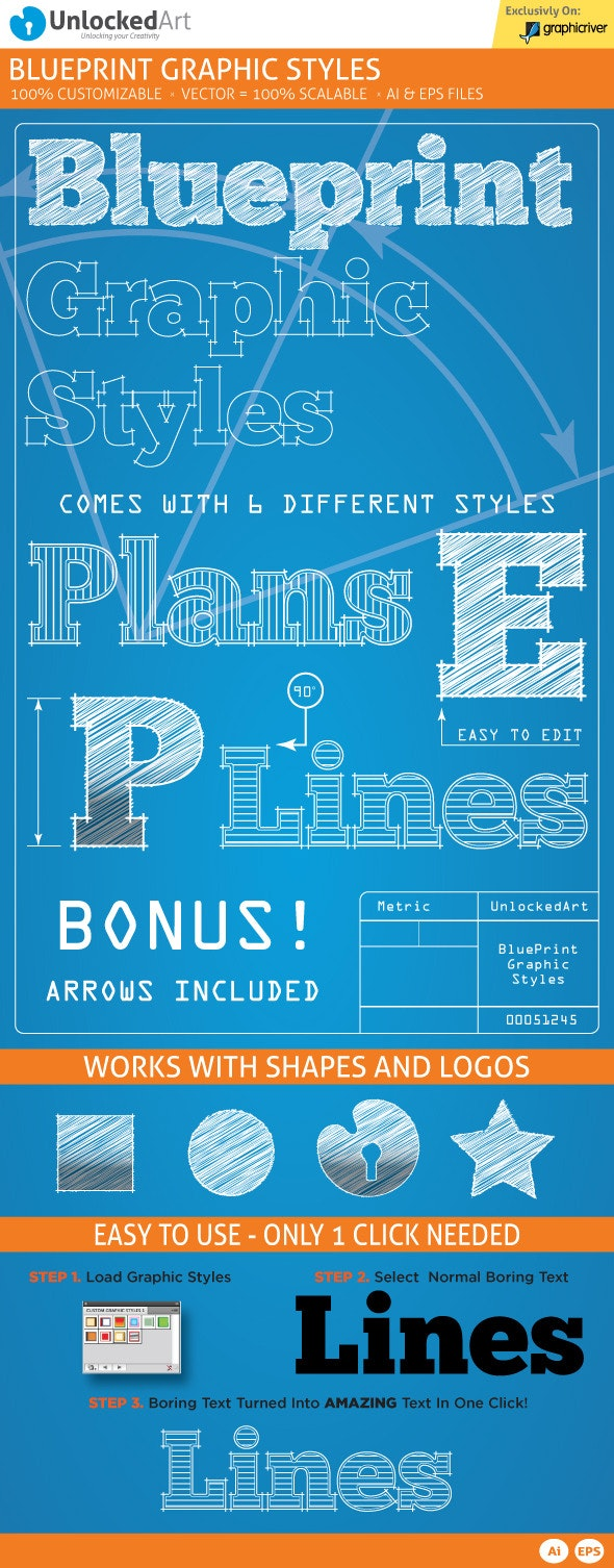 Blueprint Graphic Styles - Styles Illustrator