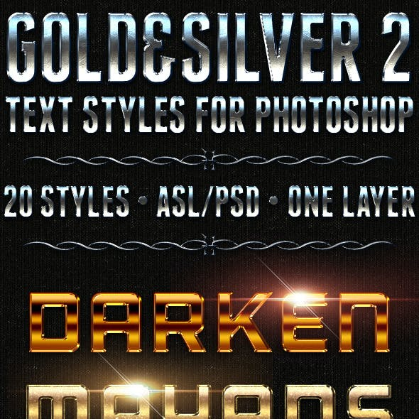 Gold & Silver 2 - Text Styles