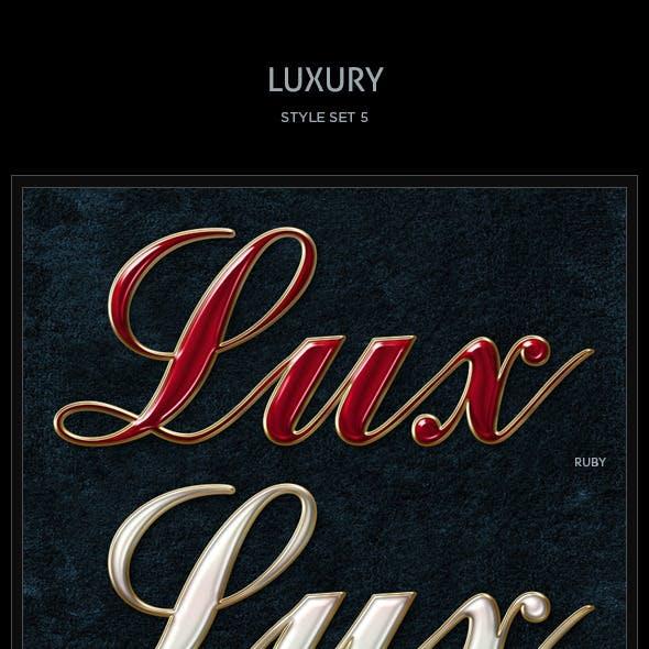 5 Luxury Text Styles