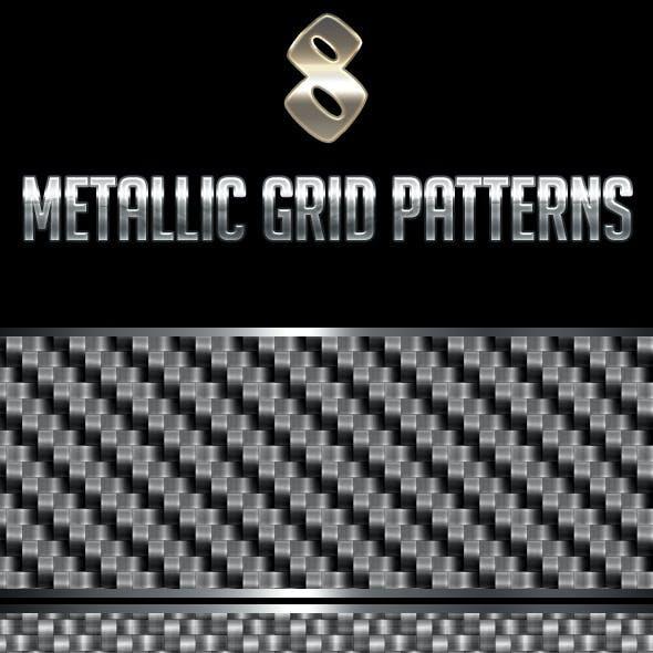 8 Metallic Grid Patterns