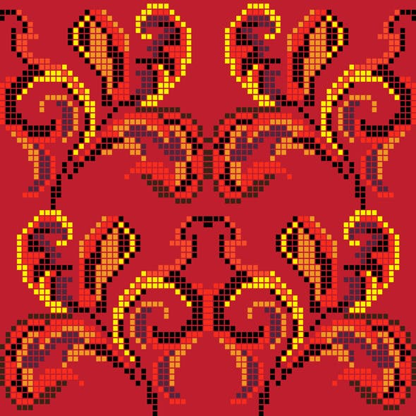 Background With Ethnic Motifs
