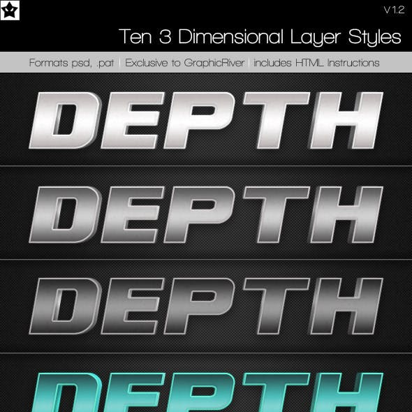 10 3D Photoshop Layer Styles