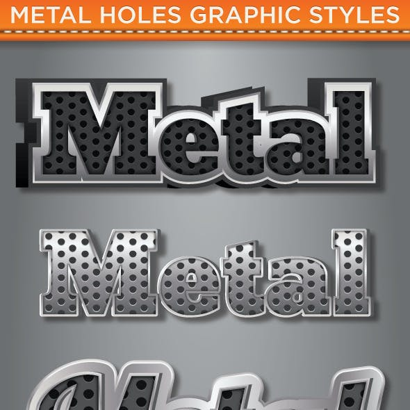 Metal Holes Graphic Style