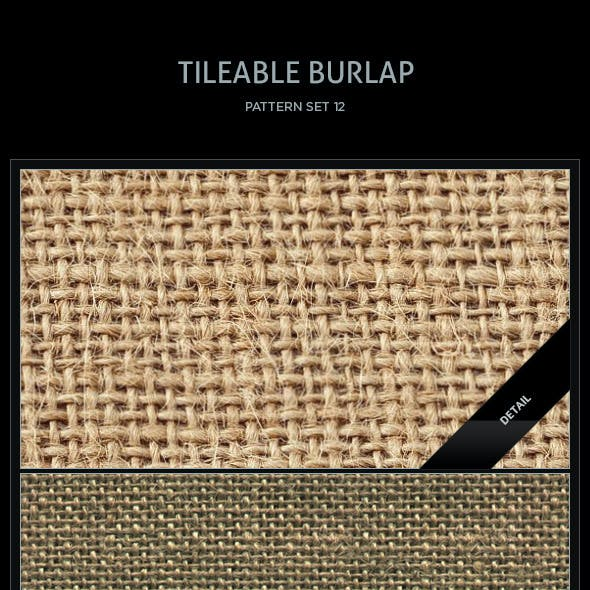 10 Tileable Burlap Textures/Patterns