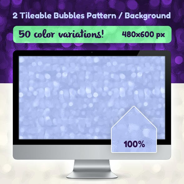 50 Seamless Bubbles Pattern / Background