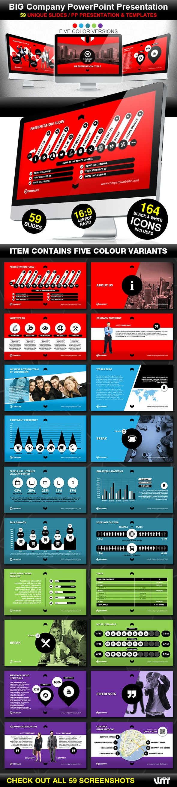 Big Company PowerPoint Prezentation Template - Business PowerPoint Templates