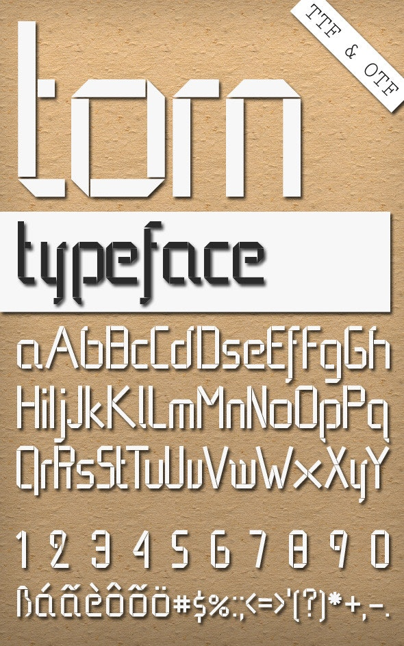 Torn - Stencil & Type Decorative