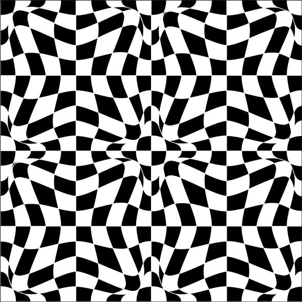 Vector Pattern In Black And White