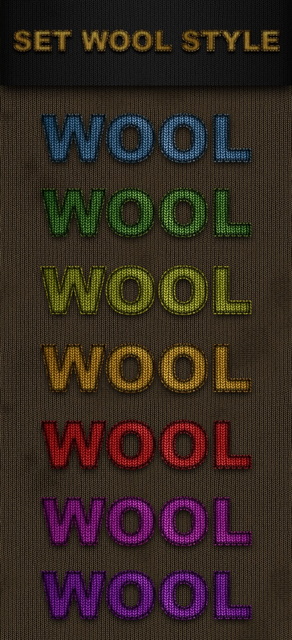 Set Wool Style - Text Effects Styles
