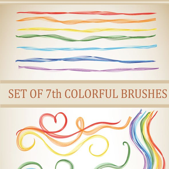7 Colourful Brushes for Adobe Illustrator