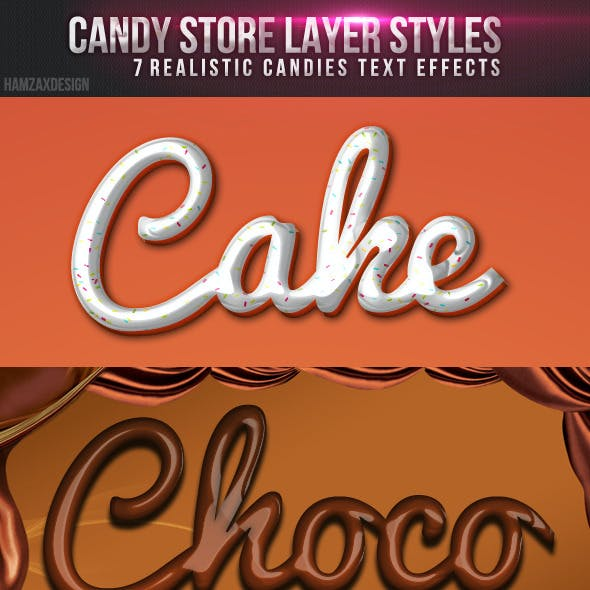 Candy Store Photoshop Styles