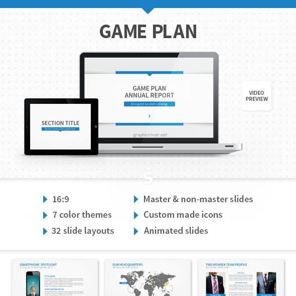Game Plan PowerPoint Template