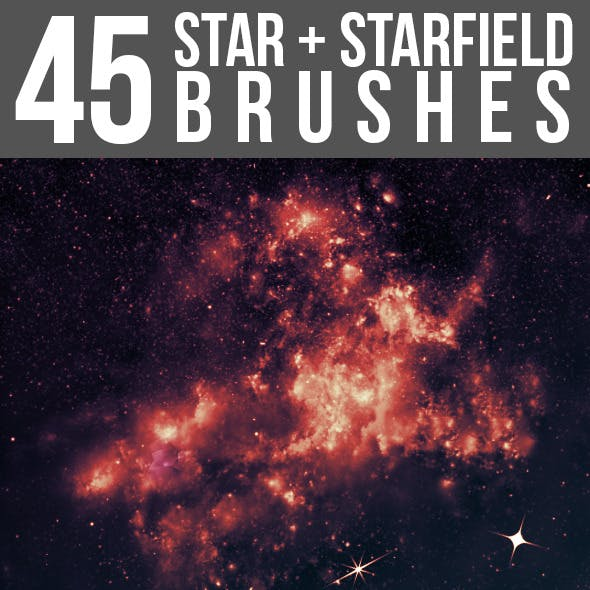 45 Star & Starfield Brushes