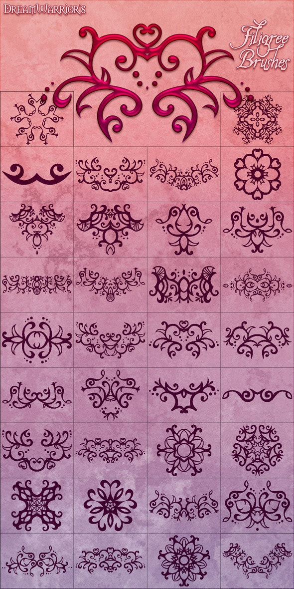 Filigree Brushes 01 - Flourishes Brushes