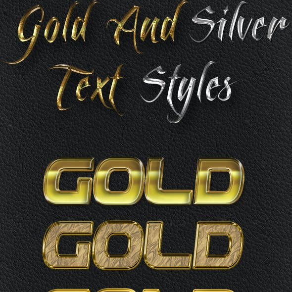 Gold And Silver Text Styles