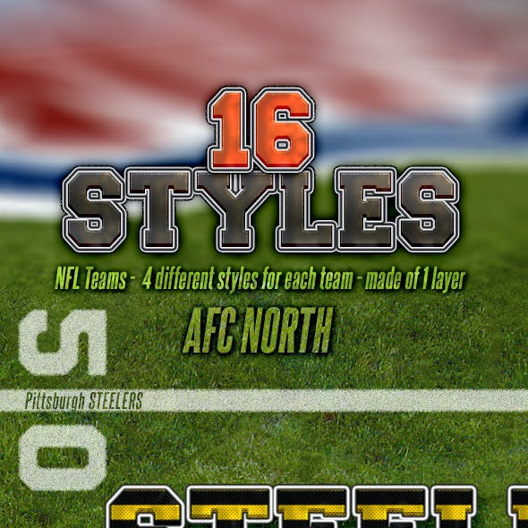 NFL Football Styles - AFC North