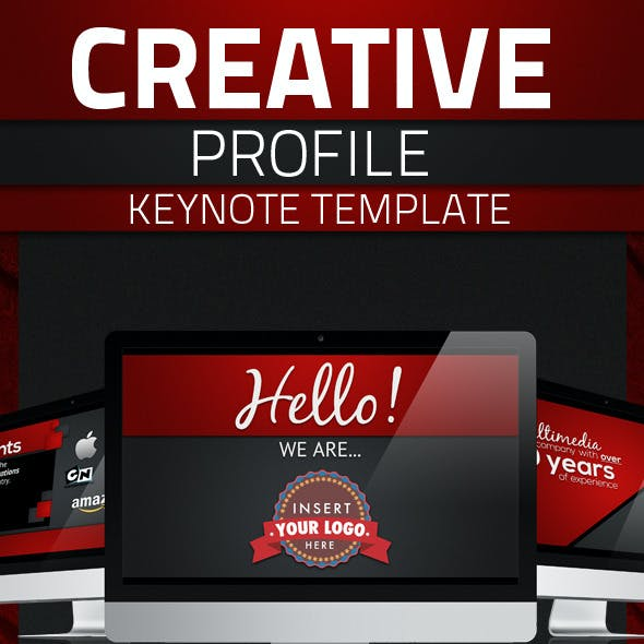 Creative Profile Keynote Template
