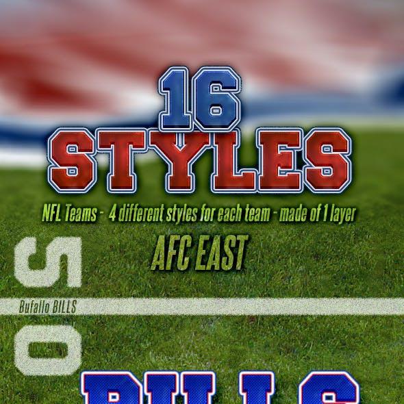 NFL Football Styles - AFC East