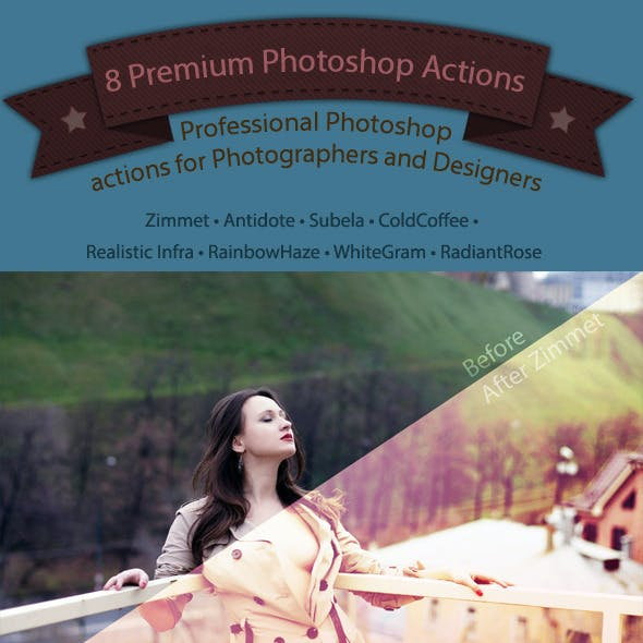 8 Professional Photoshop Actions