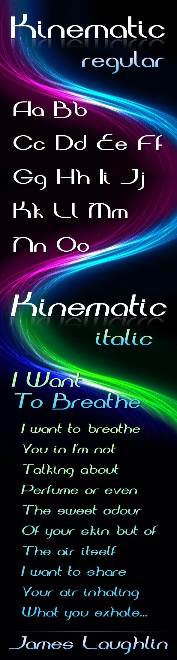 Kinematic Font