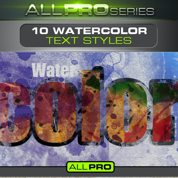 Watercolor Photoshop Text Styles