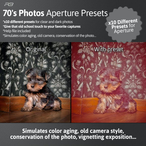 70's Photos Aperture Presets