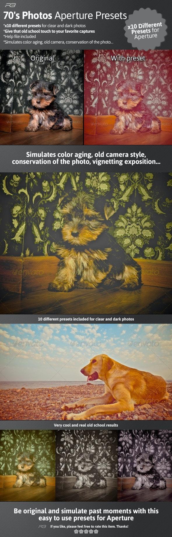 70's Photos Aperture Presets - Aperture Presets Add-ons
