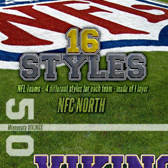 NFL Football Styles - NFC North
