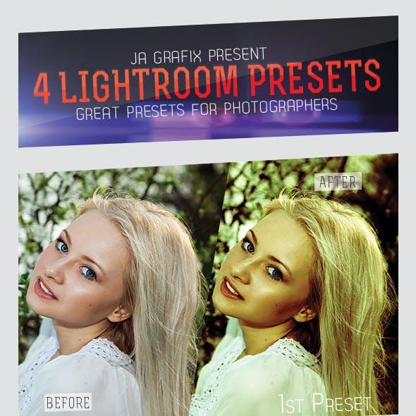 4 Lightroom Presets