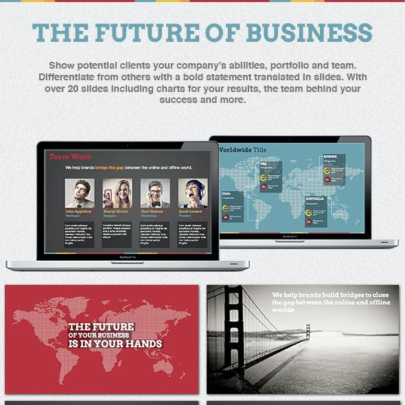 The Future of Business Powerpoint Template