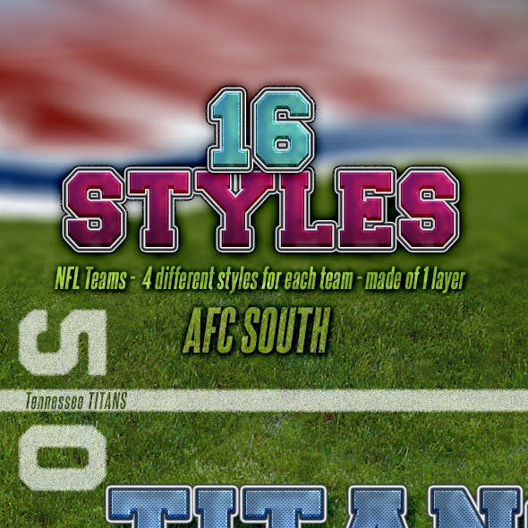 NFL Football Styles - AFC South