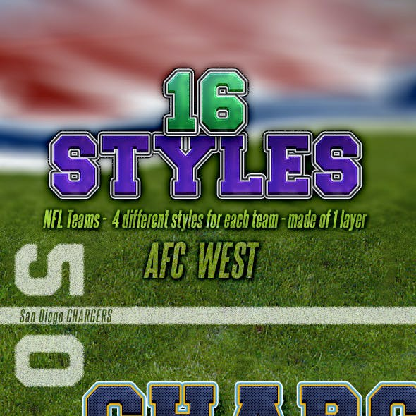 NFL Football Styles - AFC West