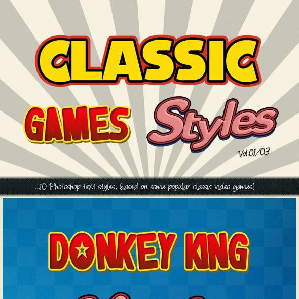 Photoshop Text Styles / Classic Games