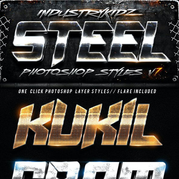 Steel Photoshop Layers Styles V7