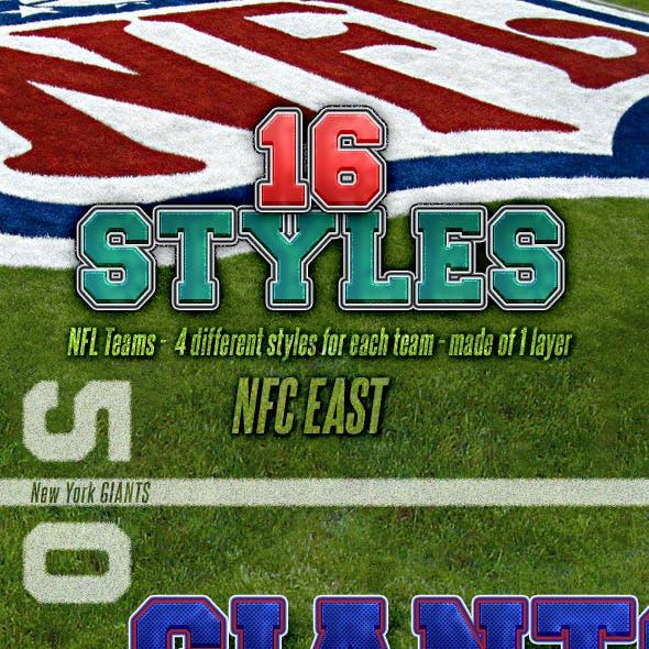 NFL Football Styles - NFC East