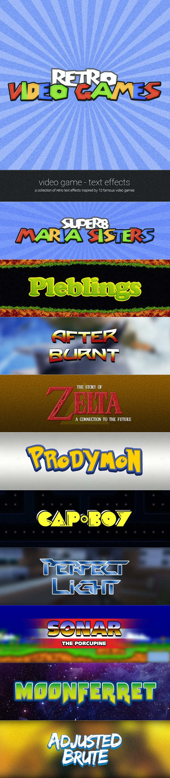 Retro Video Game - Text Effects - Text Effects Styles