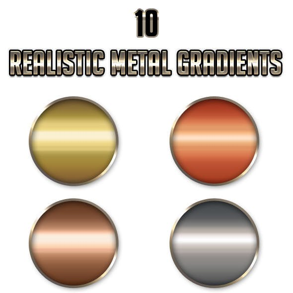 10 Realistic Metal Gradients