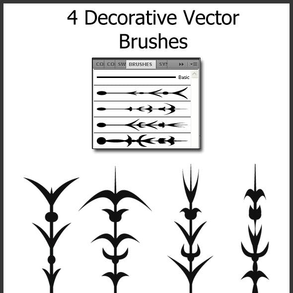 4 Decorative Vector Brushes