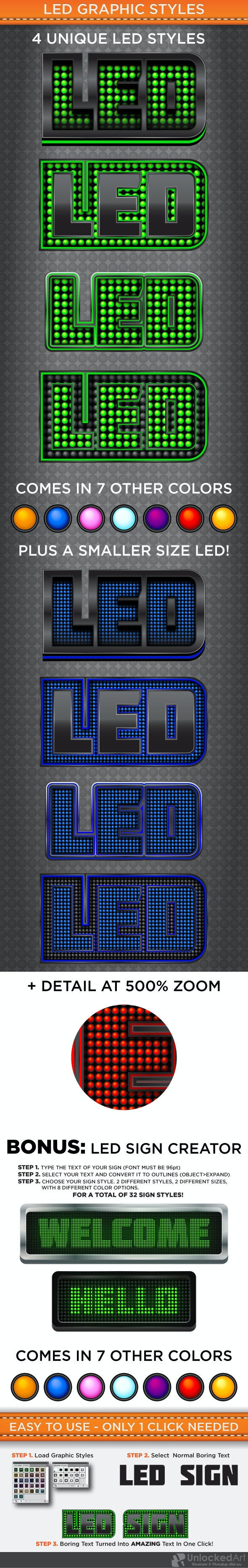 LED Graphic Styles